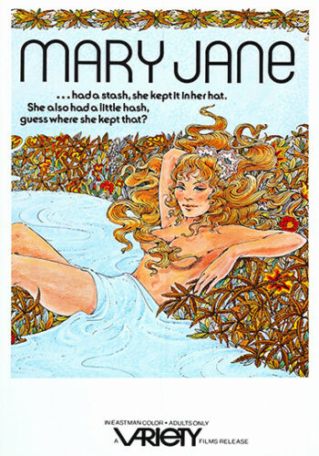 Mary Jane 1972 Film advertising poster reproduction.