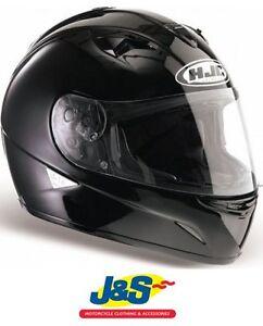 HJC IS-16 MOTORCYCLE HELMET MOTORBIKE IS16 PLAIN GLOSS BLACK RACING RACE NEW J/&S