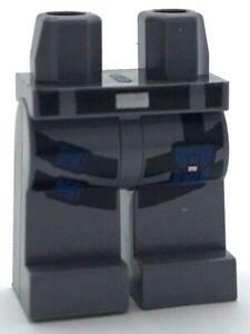 Lego 20 New Dark Bluish Gray Hips Minifigure Legs Black Gold Belt Robe Pants