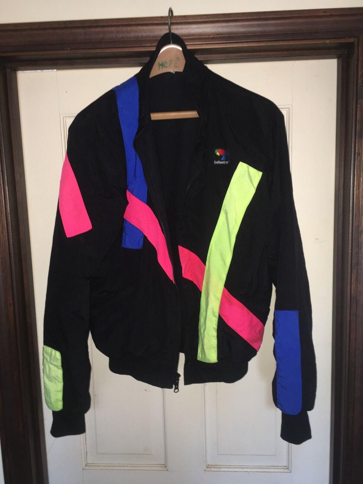 Mens  vintage Fleece lined Bellwether Cycling wind breaker medium  are doing discount activities