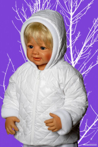 Winter Taufe Jacke warm Weiß Mädchen Junge Babyjacke 62 68 74 NEU Steppjacke