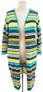 Womens-Relativity-Long-Cardigan-multi-color-sweater-XL-NWT