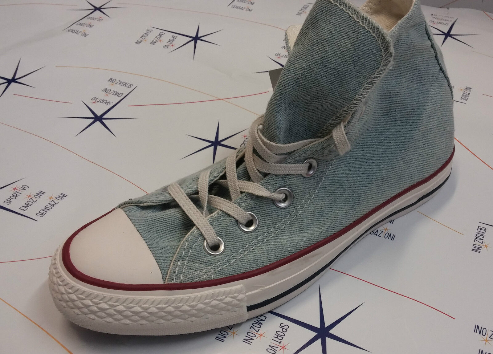 shoes Converse All Star Hi High -- Jeans Light Washed Canvas Canvas -- 148498c