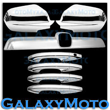 07-11 HONDA CRV Chrome Mirror+Tailgate Liftgate Rear Accent+4 Door Handle Cover