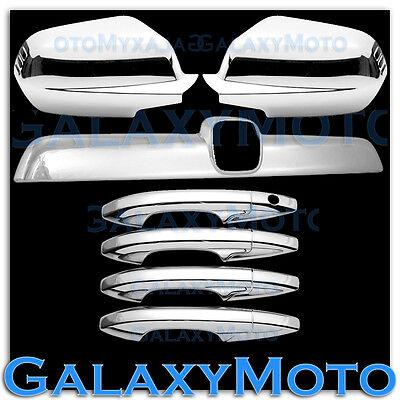 07-11 HONDA CRV Triple Chrome Plated Full Mirror+4 Door Handle Cover Trim kit
