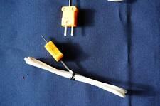 Type K Thermocouple Temperature Sensor Withflat Pin Mini Plug Hvac Multimeter Part