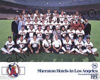 1988 ANAHEIM CALIFORNIA ANGELS BASEBALL TEAM 8X10 PHOTO