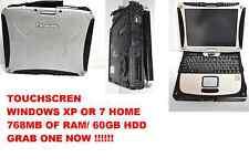 Panasonic Toughbook CF-18 MK2.1.10 MHz,60GB HD,NOTOUCH, WIN 7  OR WINDOWS XP PRO