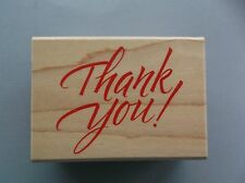 HERO ARTS RUBBER STAMPS THANK YOU GREETINGS NEW wood STAMP
