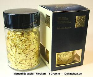 Details Zu 3 Gramm Gold Flocken 23 Karat Essbares Gold Neu Tüv Und Koscher Laut Gutachten