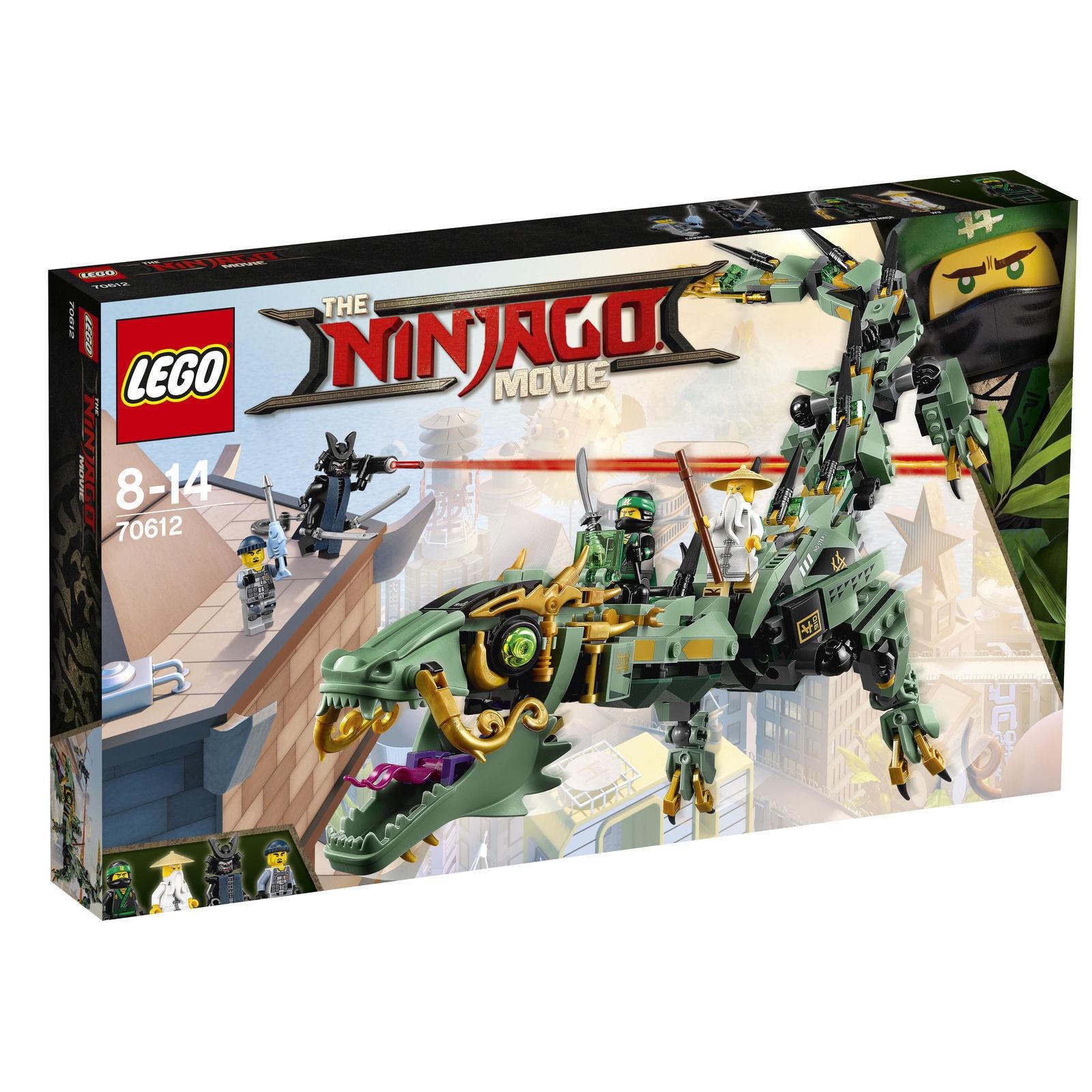 nessun minimo LEGO Ninjago MECC-DRAGO DEL NINJA verde verde verde 70612, NUOVO  forma unica