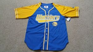 New w Tag Starter Golden State Warriors Royal Gold Baseball Jersey ... 32f920017