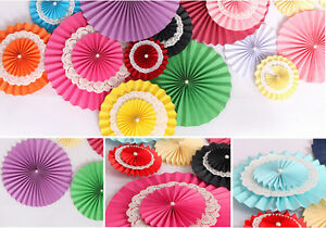 1pc Paper Flower Fans Birthday Party Wedding Home Diy Hanging