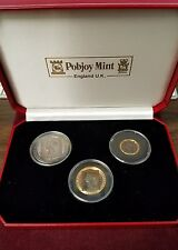 1990 Isle of Man Crown Elizabeth II 150th Anniversary 3 Piece Coin Set PF