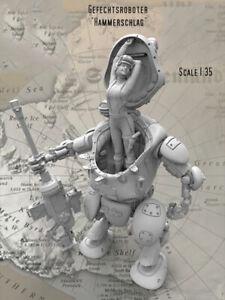 Fantasy-Combat-Robot-Sexy-beaute-non-peinte-Figure-Model-Kit-1-35-scale