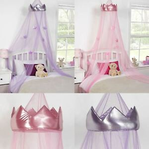 Image Is Loading KIDS CHILDRENS GIRLS PRINCESS CROWN BED CANOPY INSECT