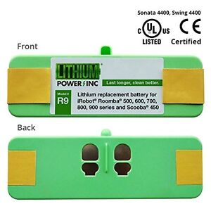 Lithium Roomba Replacement Battery Irobot 500 600 700 And