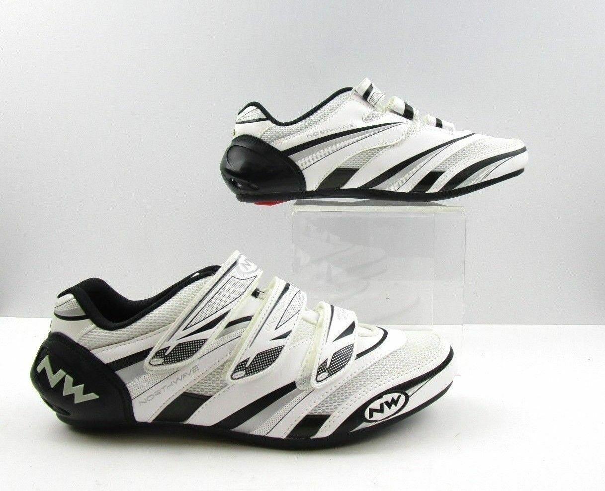 Men's Northwave bianca verdeigo Pro 2011 Biking Cycling scarpe Dimensione  12