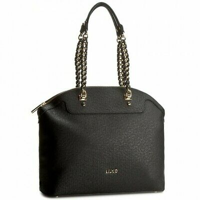 BORSA LIU JO SHOPPING ANNA CHAIN A17002 BAG L BIANCO ROSA TRUE CHAMPAGNE E NERO | eBay