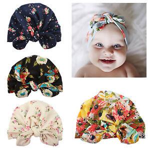 Newborn Baby Kids Girl Boy Velvet Turban Knot Head Wrap India Beanie Hat Cap USA
