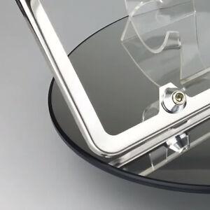Image Is Loading Polished Chrome License Plate Frame Slim 4 Hole