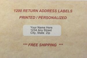 1200 - Personalized Return Address Labels (Printed In Ink Color of your Choice)