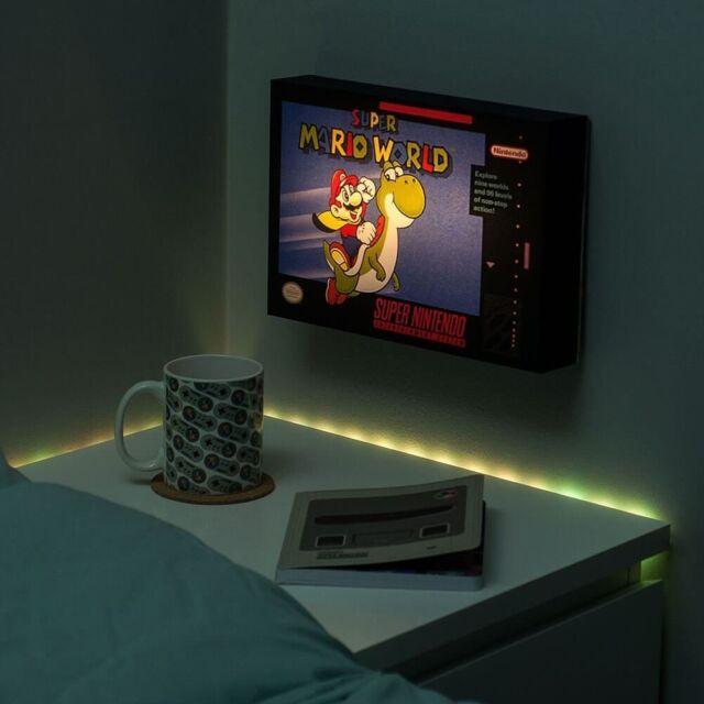 Snes Super Nintendo Mario World Luminart Lámpara Noche Luminoso Cuadro Nuevo