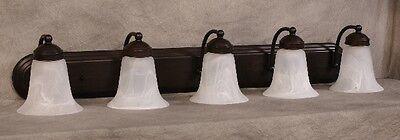 Trans Globe Lighting Five Light Oil Rubbed Bronze Bathroom Vanity Light