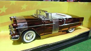 CHEVROLET-BEL-AIR-Cabriolet-au-1-18-AMERICAN-MUSCLE-ERTL-32235-voiture-miniature