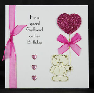 Personalised handmade birthday card ideal for girlfriend wife by image is loading personalised handmade birthday card ideal for girlfriend wife bookmarktalkfo Image collections