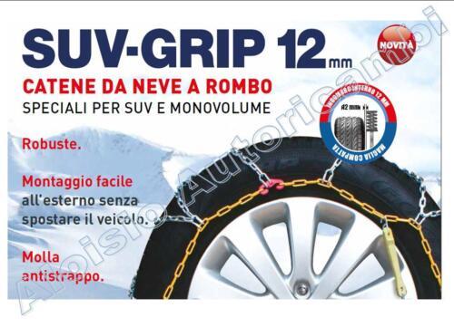 CATENE DA NEVE SUV 12MM CORA GR222-255//50-20 265//45-20 275//45-20