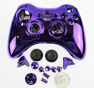 Replacement Custom Chrome Purple Xbox 360 Controller Shell Case   7426104869887 | eBay
