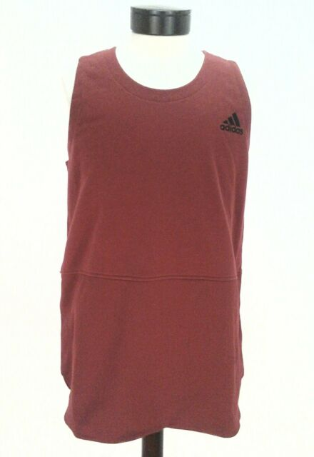 a94592c340f9f1 ADIDAS Tank Shirt Maroon Red BASKETBALL French Terry Active BQ1769 Mens XL   55