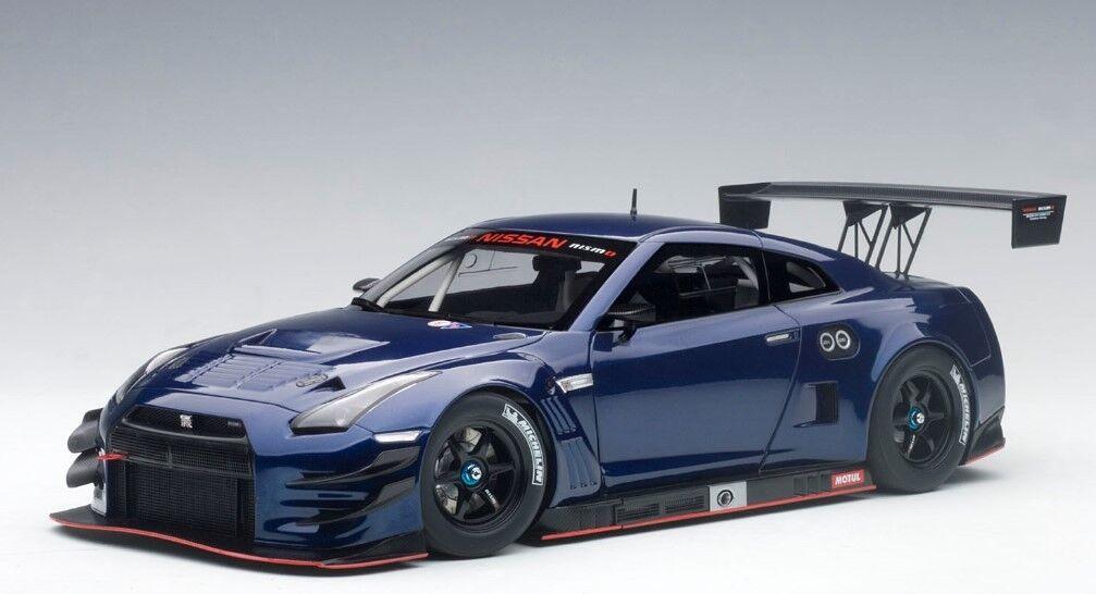 bilkonst 1 18 Nissan GT -R NISMO GT3 (AURORA FLÄR blå PEARL) 2015