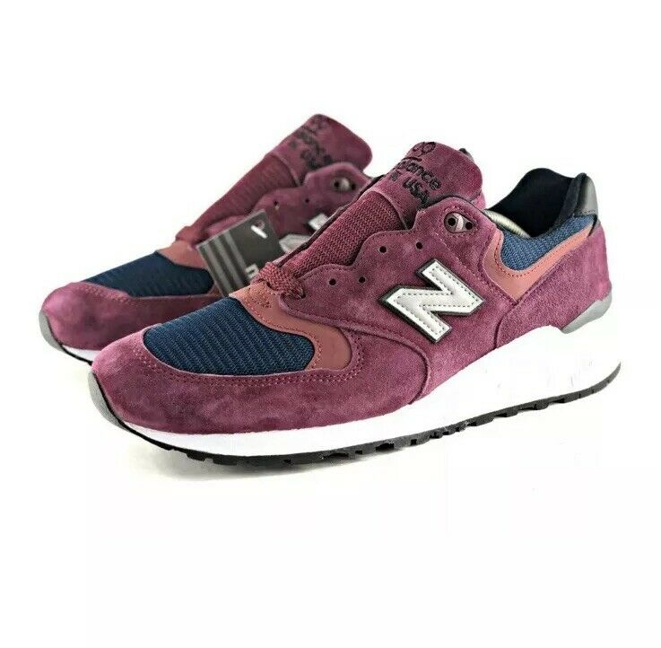 NEW BALANCE M999JTA Maroon Navy Men's Size 11 MADE IN THE USA Rare