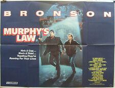 Charles Bronson  MURPHYS LAW(1986)Original UK quad cinema poster