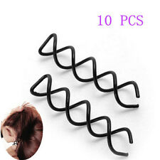 10pcs Stylish Hair Style Spiral Spin Screw Bobby Pin Hair Clip Twist Barrette