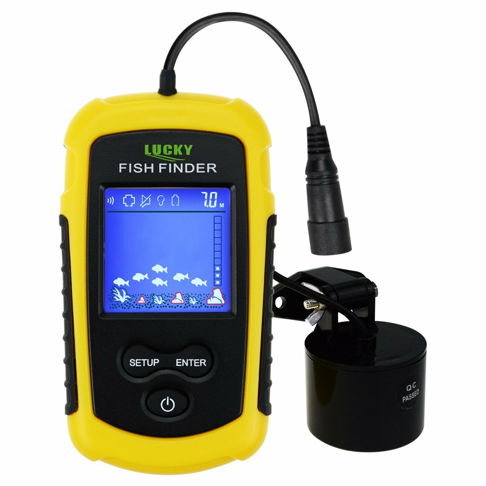 Portable Poisson Finder Sonar, TN  Anti-UV LCD Afficher w  LED Rétro-éclairage