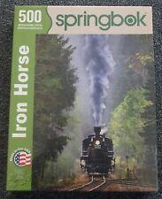 Springbok Jigsaw Puzzle Iron Horse Locomotive 500 Piece NISB