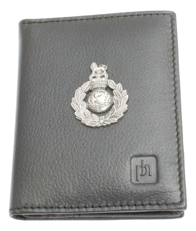 Commando Flag Bifold Card Holder Leather Black Wallet RFID Safe 432
