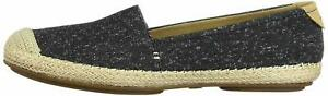 Sperry Womens Sunset skimmer Fabric Cap Toe Casual Espadrille, Black, Size 8.5 M