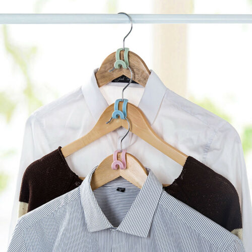 5Pcs Mini Plastic Non-slip Clothes Hanger Home Easy Hook Closet Organizer E/&F