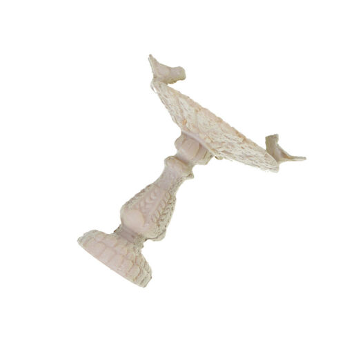 1:12Dollhouse Miniature Fairy Garden Furniture Resin Bird Bath Fountain Decor Jg