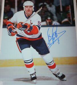 New York Islanders 8x10 Print Framed Denis Potvin Sports Illustrated Autograph Replica Print