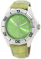 New Women's Invicta 11296 Swiss Ceramic Light Green Dial Genuine Leather Watch