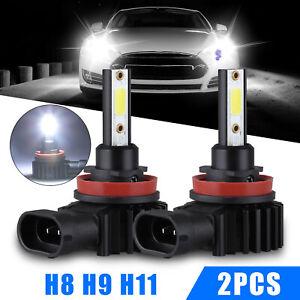 2X-H11-H9-H8-2200W-330000LM-6500K-COB-LED-Headlight-Hi-Low-Beam-Fog-Light-Bulbs