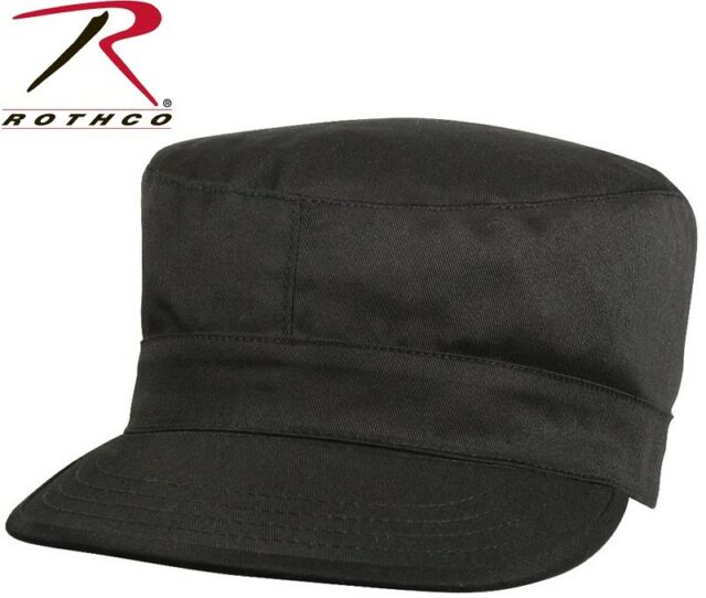 Black Army Ranger Fatigue Cap BDU Uniform Hat Map Pocket Rothco 5642