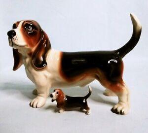 Vintage-COOPERCRAFT-Porcelain-BASSETT-HOUND-Dog-Figurine-Made-in-England