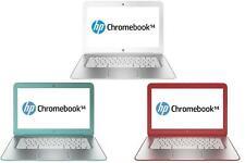 "HP Chromebook 14 G1 SMB F7W49UA#ABA 14"" 4GB RAM 16GB SSD Netbook HD Graphics"