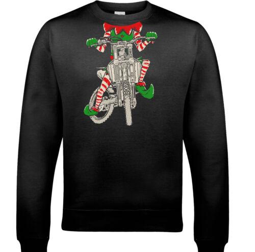 MOTARD ELF Homme Drôle Noël Sweat-shirt moto vélo moto INDIAN CHOPPER